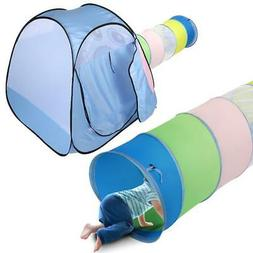Kids Elephant Play Tent with Tunnel - Gift Indoor/Outdoor Po
