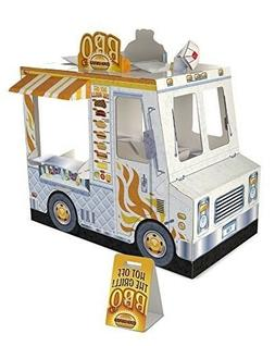 Kids Food Truck Play House Extra Thick Sturdy Cardboard Play