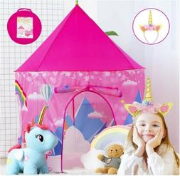Kids Play Tents for Girls Tent Unicorns Princess Castle Play