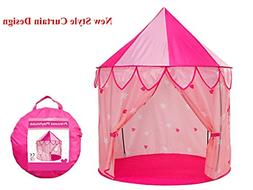 TrendPow Kids Princess Castle Play Tent with Curtain,Childre