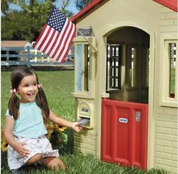 Kids Princess Cottage Playhouse Pink Pretend Play & Backyard
