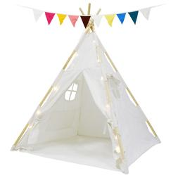 Kids Teepee Natural Cotton Play Tent Tents Playhouse Toddler