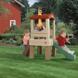 Kids Treehouse Climber with Slide Outdoor Playset Playhouse