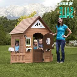 Kids Backyard Discovery Wooden Cedar Playhouse Summer Cottag