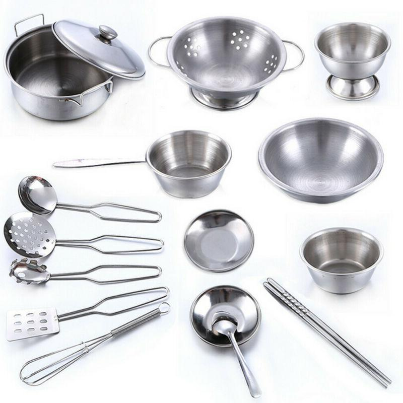 16 Set Play House Kitchen Toys Cookware Pans
