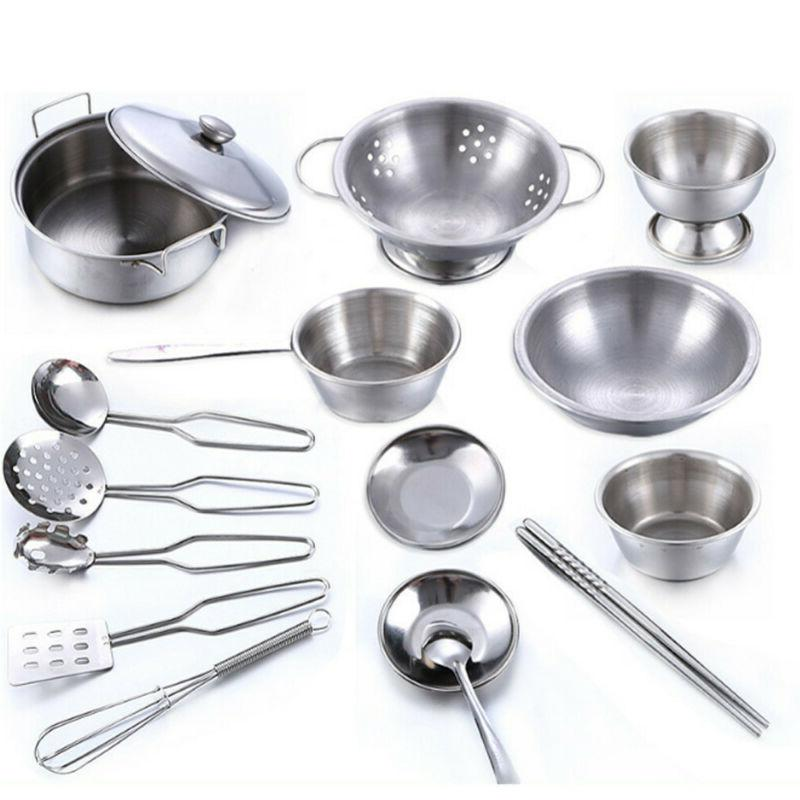 16 Pcs Play House Cookware Pans