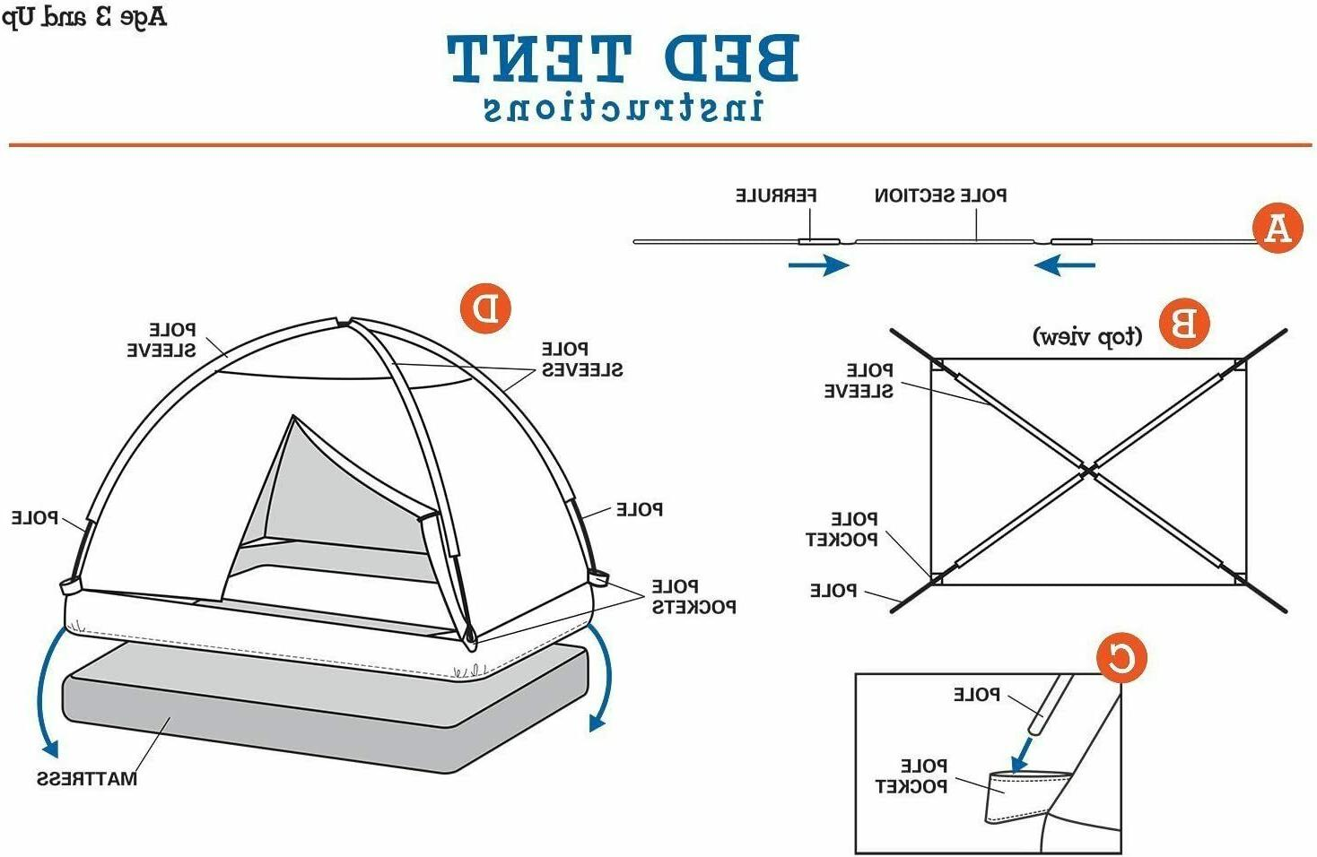 Pacific Kids Rad Racer Tent - Size