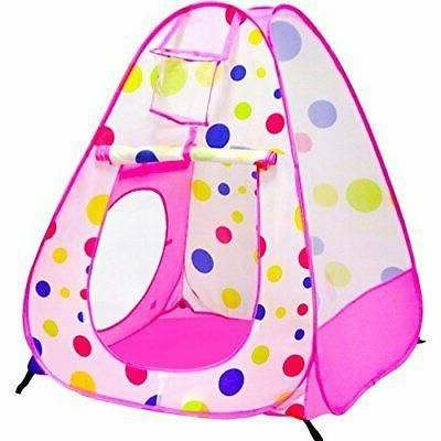Playz 3pc Play Tent Ball Pit Pop Playhouse