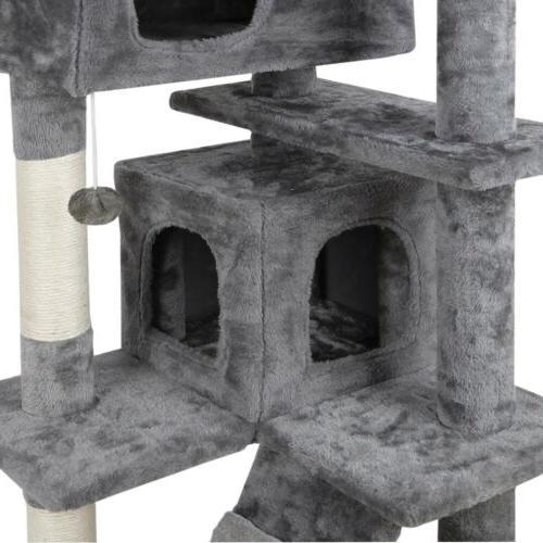 "53"" Cat Tree Condo Tower Playhouse W/ Ladders"