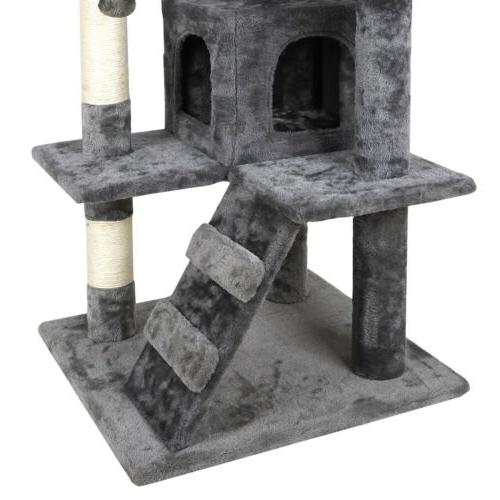 """53"""" Cat Condo Activity Tower Playhouse Cave Ladders"""