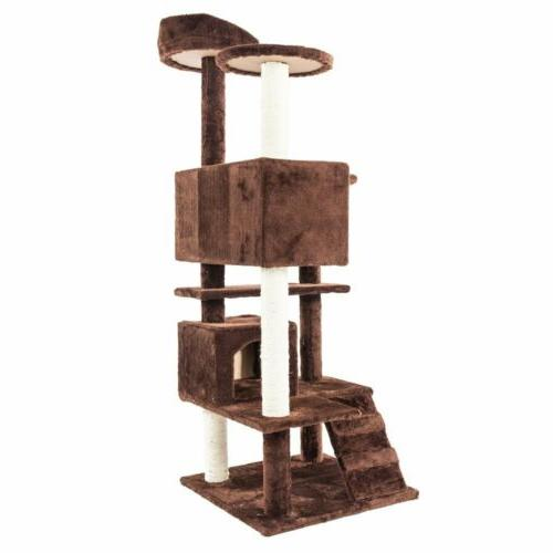 """52"""" Cat Tower Condo Scratching Pet Kitty Toy"""