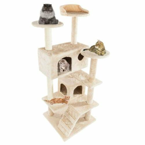 """52"""" Cat Condo Furniture Pet Kitty Play Toy"""