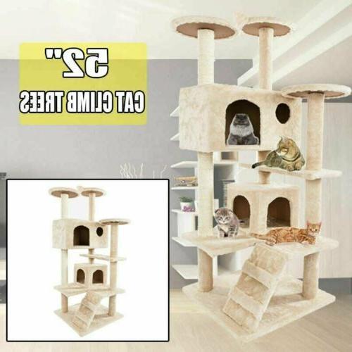 52 cat tree tower condo furniture scratching