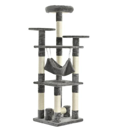 """52"""" Tree Condo Scratching Kitty Pet House"""