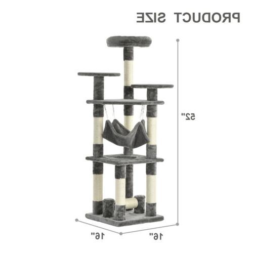 """52"""" Tree Condo Scratching Pet Play House"""