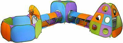 5pc Kids Play Tents & Tunnels Playhouse Jungle Gym W/ Pop Up