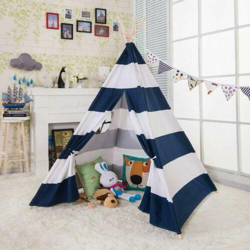 6' Indian Teepee Dome Carry Blue