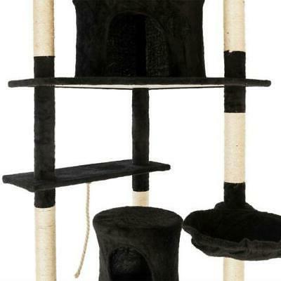 """80"""" Tree Pet Condo Furniture Scratch Toy Black"""