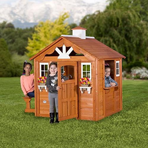 Backyard All Wood Playhouse