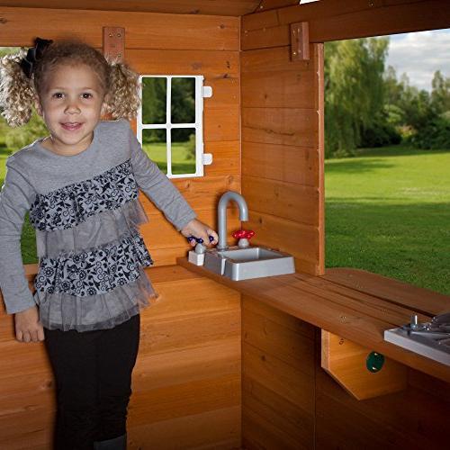 Backyard All Cedar Wood Playhouse