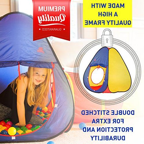 Ball Durable Pop Tent Girls, Babies, & Pets – for Outdoor Use, with Case, -Great