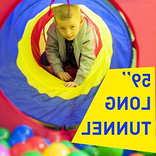 Kiddey 3pc Kids Play Tent Crawl and Ball Pit Set Durable Pop Up Tent Girls, Babies, Toddlers Pets – Indoor Outdoor