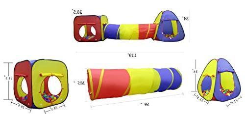 Kiddey Kids Tent and Ball Set Durable Up Playhouse Tent Boys, Babies, – for Indoor Case, -Great