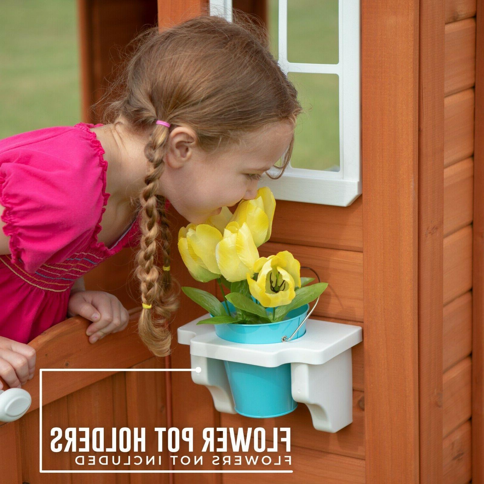 Backyard Outdoor Wooden Kids Girls Fun