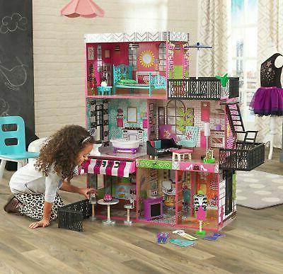 Barbie Size Dollhouse Furniture Girl Playhouse Dream Play Wo