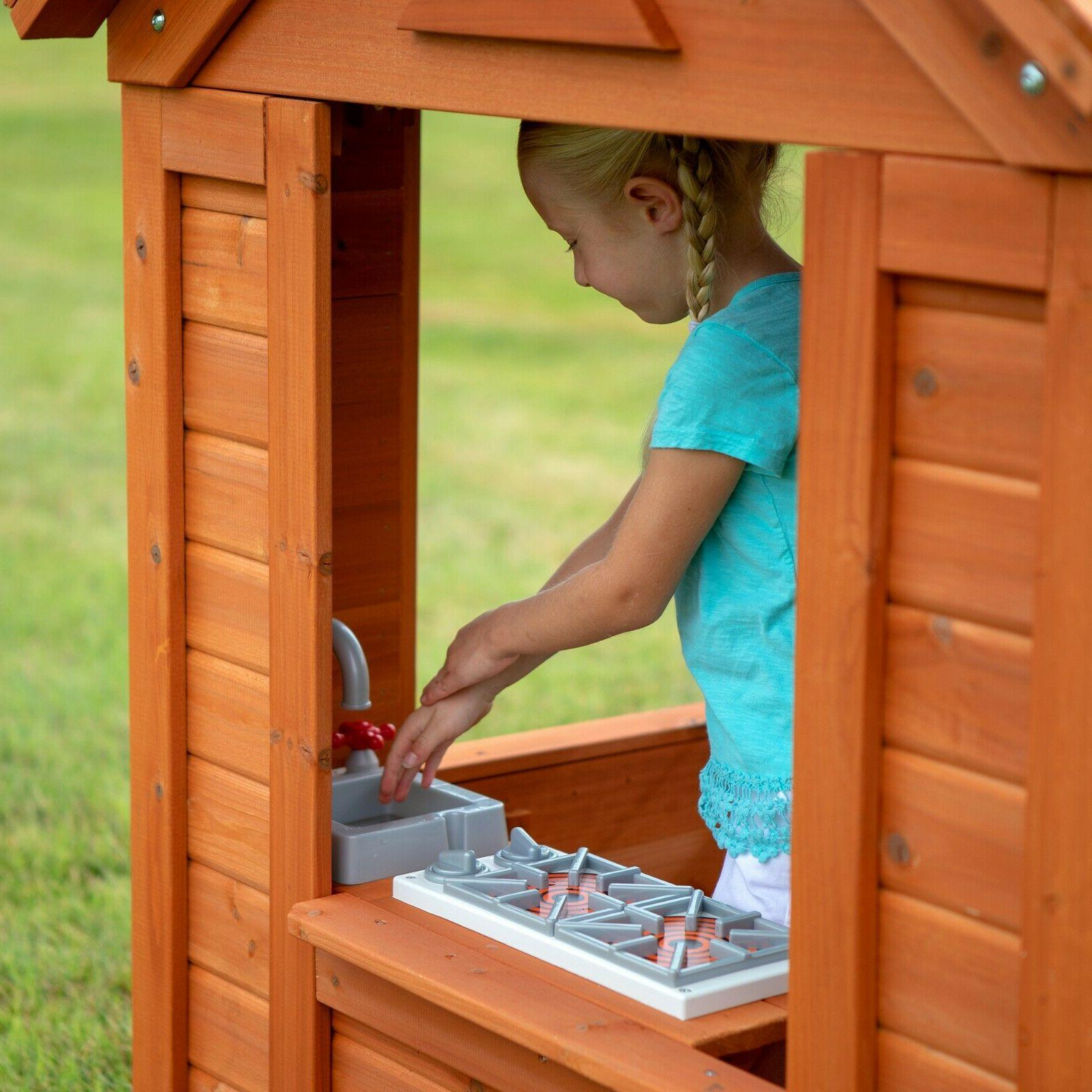 Backyard Wooden House Cottage Cedar Kids Fun