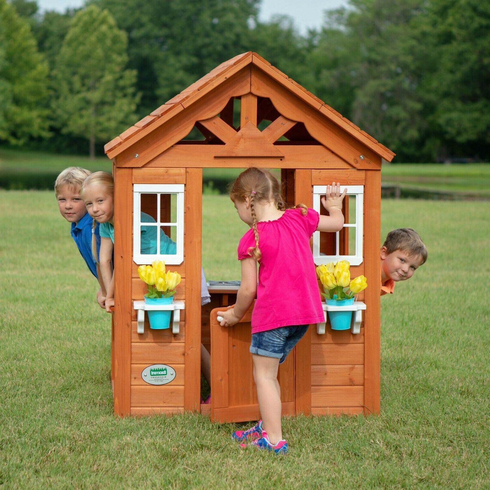 Backyard House Playset Kids Fun