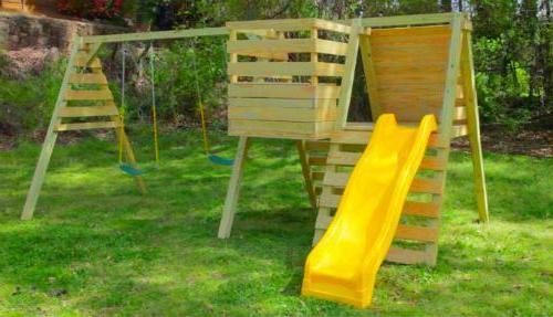 build kids playhouse swing play set backyard