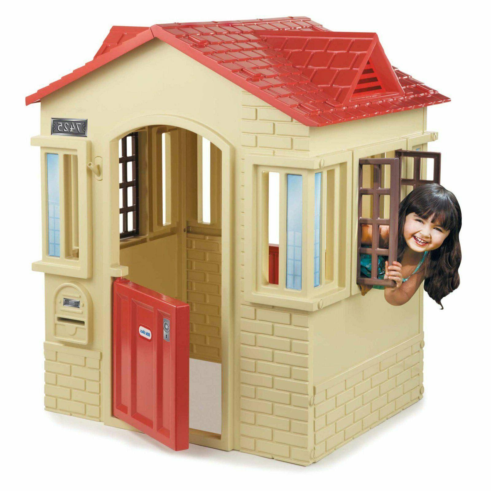 Cape Cottage Playhouse Tan Toddlers Backyard Fun Imaginative