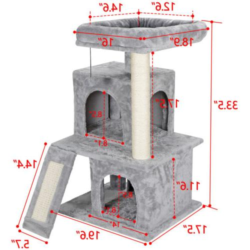 cat tree tower great for multiple cats