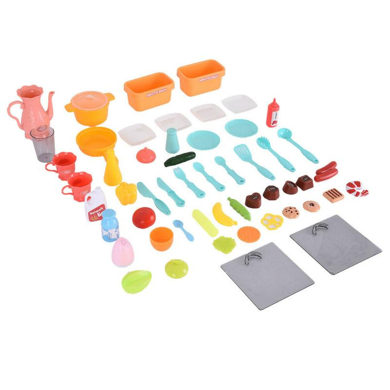 Children's Sound And Light Kitchen Puzzle Toy Meal Set