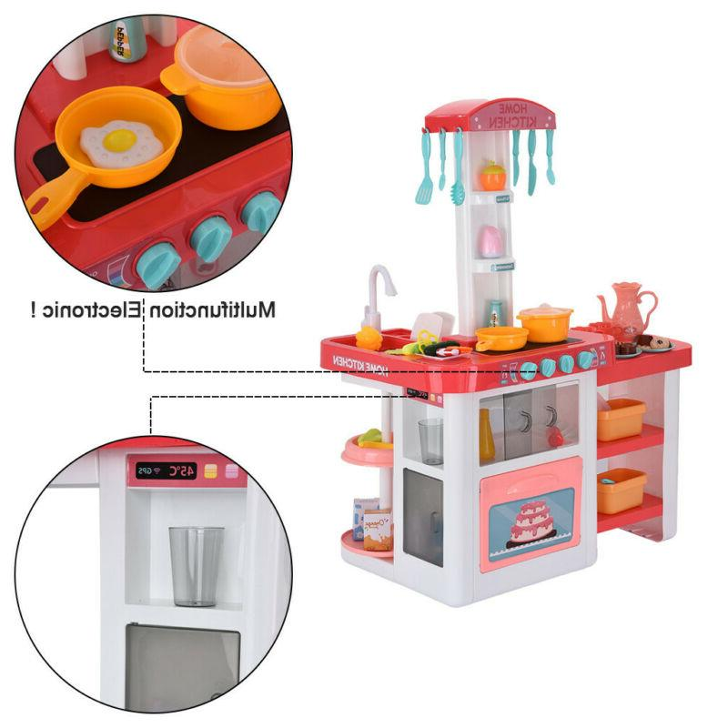 Children's Play And Light Puzzle Kitchen Set