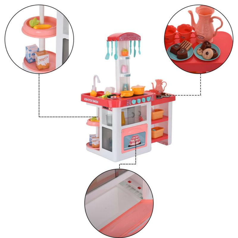 Children's Play House Sound And Light Kitchen Puzzle Meal Set