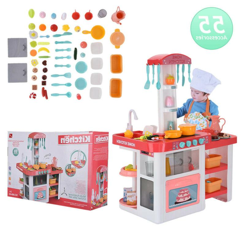 Children's Play House Sound And Light Water Kitchen Puzzle T