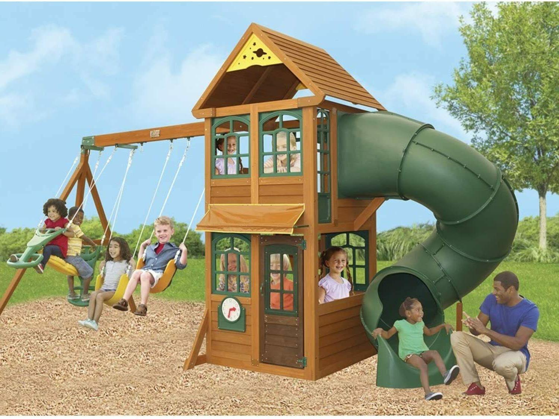 cloverdale wooden playhouse twist n ride tube
