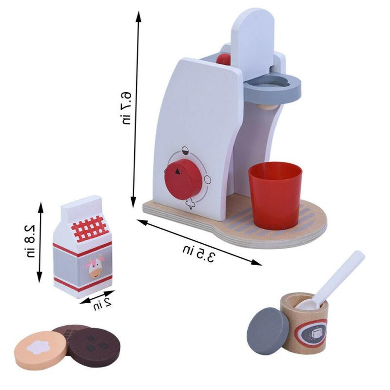 coffee maker toy kids children wooden play