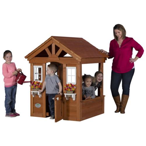Columbus All Cedar Play House Outdoor Kids Discovery Interac