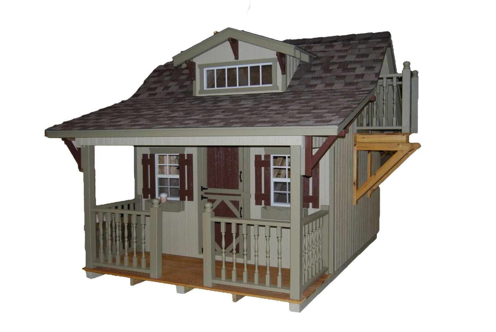craftsman 11x10 playhouse with slide