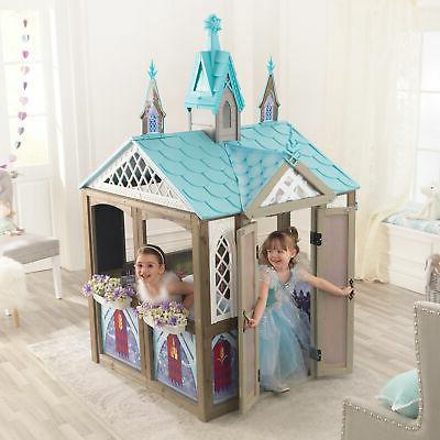 KidKraft Frozen Wooden Playhouse Set Toy NEW