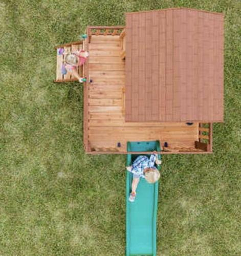 Backyard Wooden Playhouse