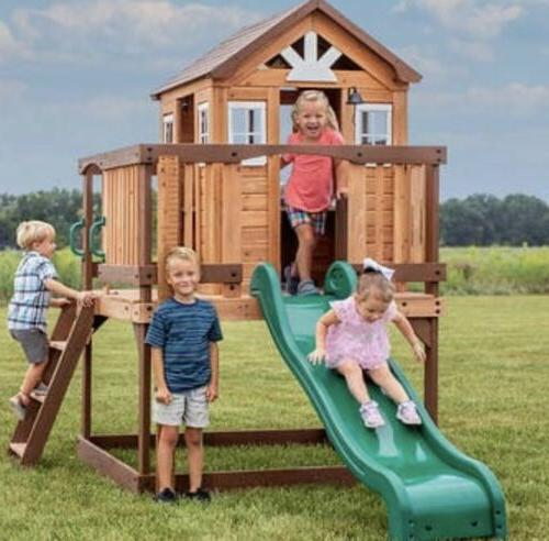 echo heights wooden playhouse