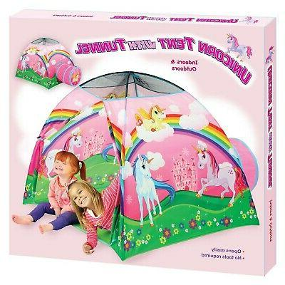 Etna Unicorn Tent with Cute Pop-Up Playhouse
