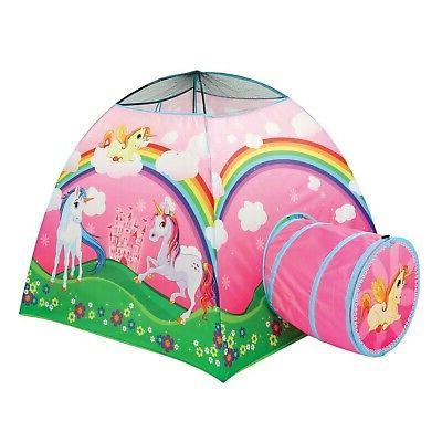 etna kids unicorn play tent with tunnel