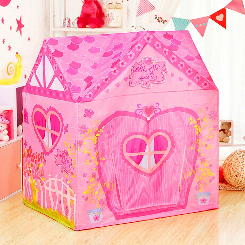 Flower Princess Castle Pink Palace Kids Garden Playhouse