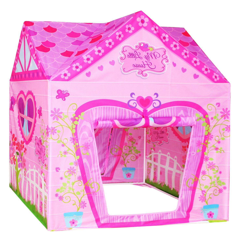flower princess castle girls pink palace play