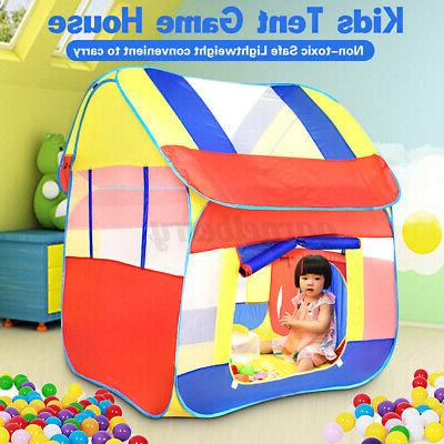 Foldable Play Tent Outdoor Lawn Tent Kids Playhouse Game Toy